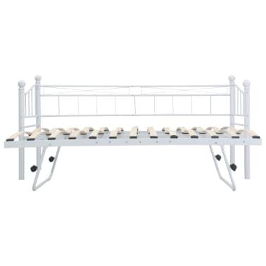 vidaXL Bedframe staal wit 180x200/90x200 cm[5/8]