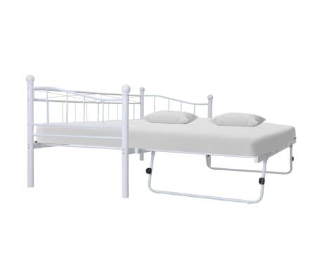 vidaXL Bedframe staal wit 180x200/90x200 cm[1/8]