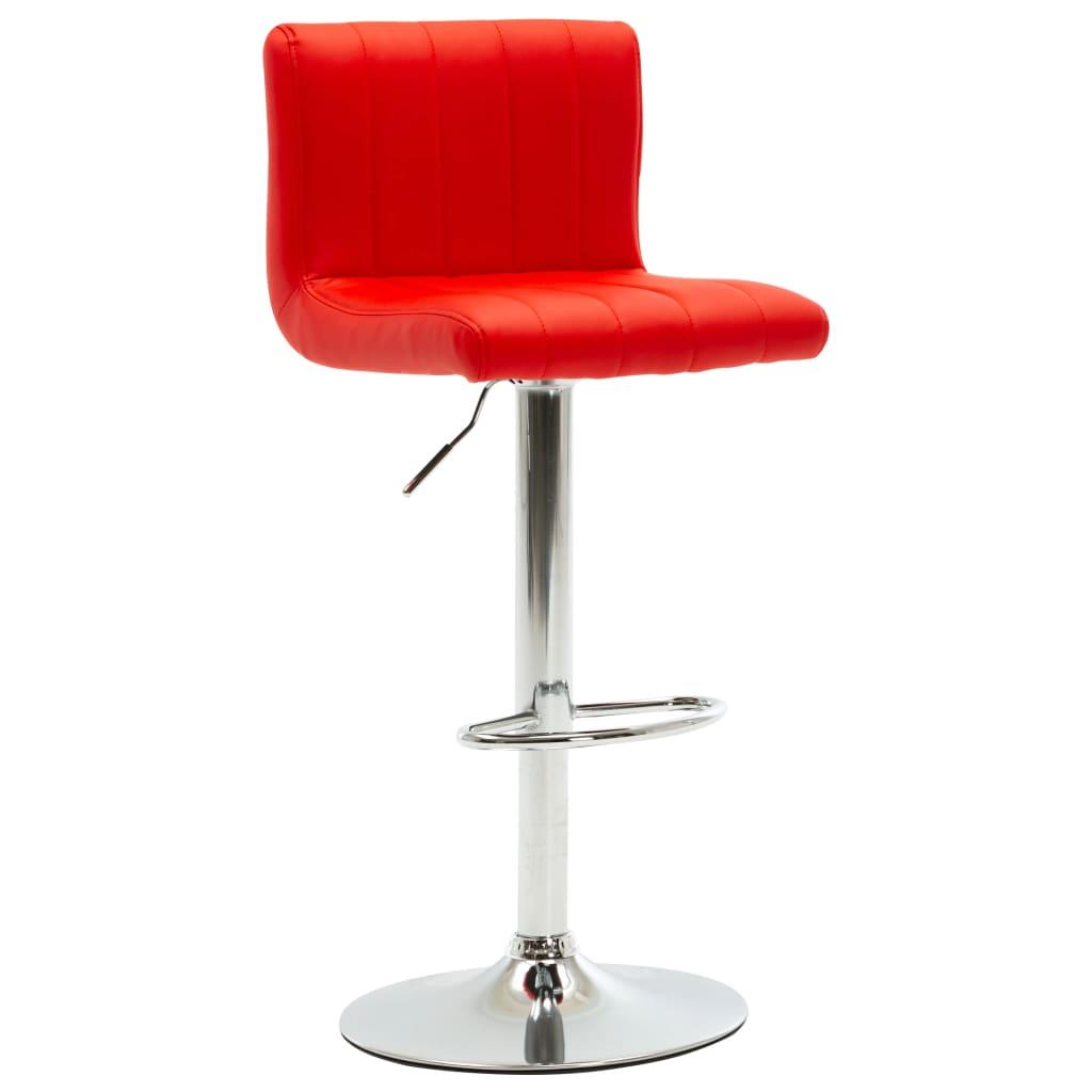 vidaXL Barová stolička červená umělá kůže