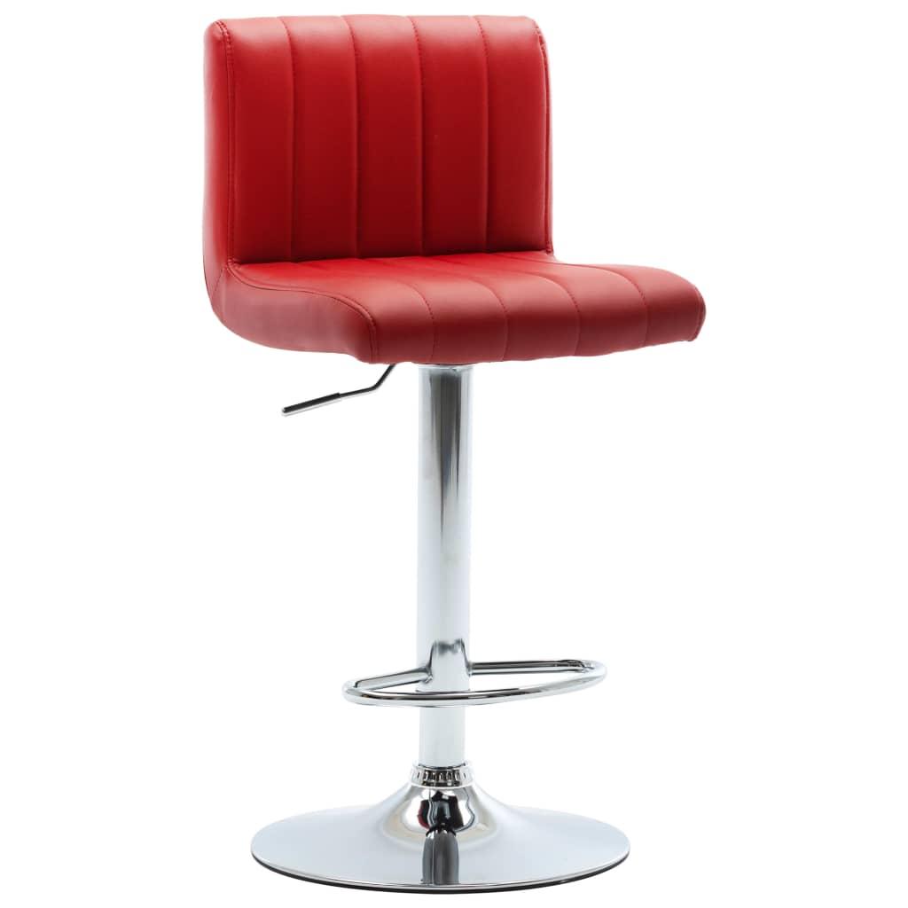vidaXL Barová stolička vínová umělá kůže