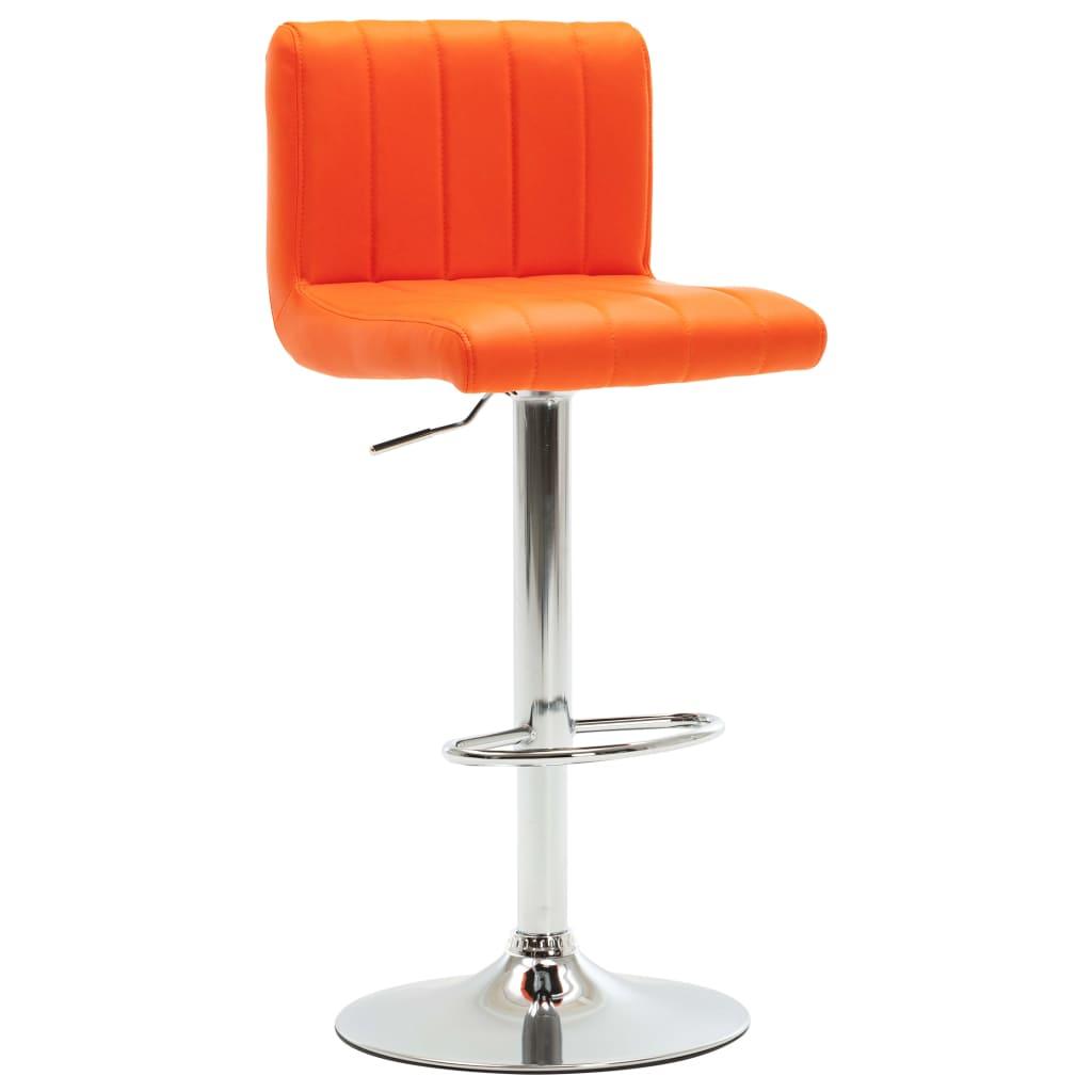 vidaXL Barová stolička oranžová umělá kůže