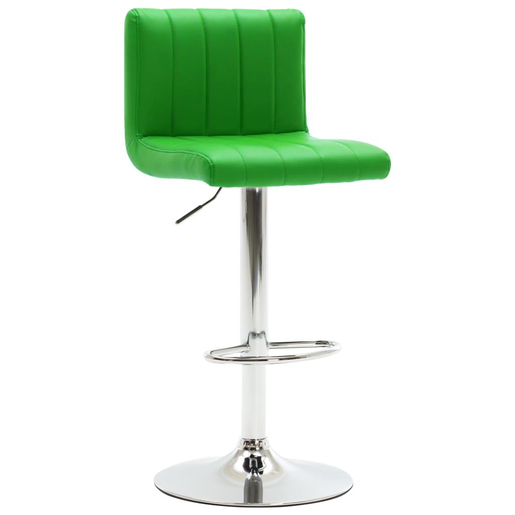 vidaXL Barová stolička zelená umělá kůže