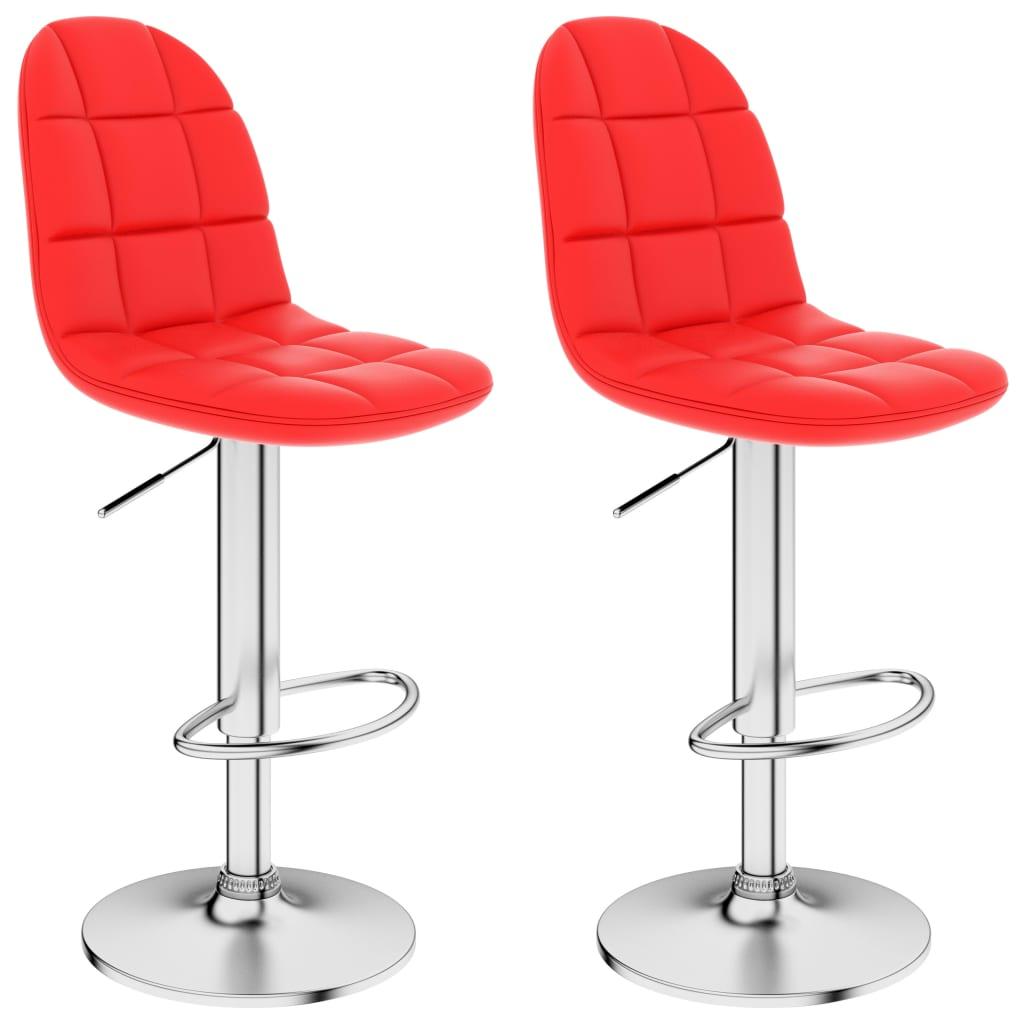 vidaXL barstole 2 stk. kunstlæder rød