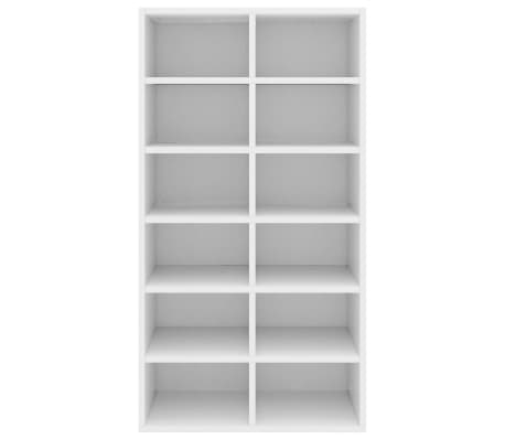 "vidaXL Shoe Rack White 21.5""x13.3""x39.3"" Chipboard[4/6]"