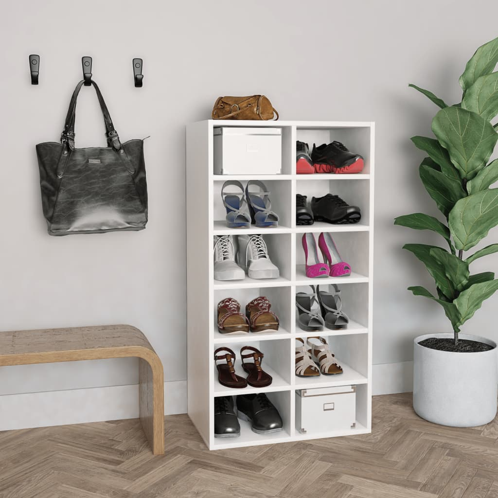 vidaXL Pantofar, alb, 54 x 34 x 100 cm, PAL poza 2021 vidaXL