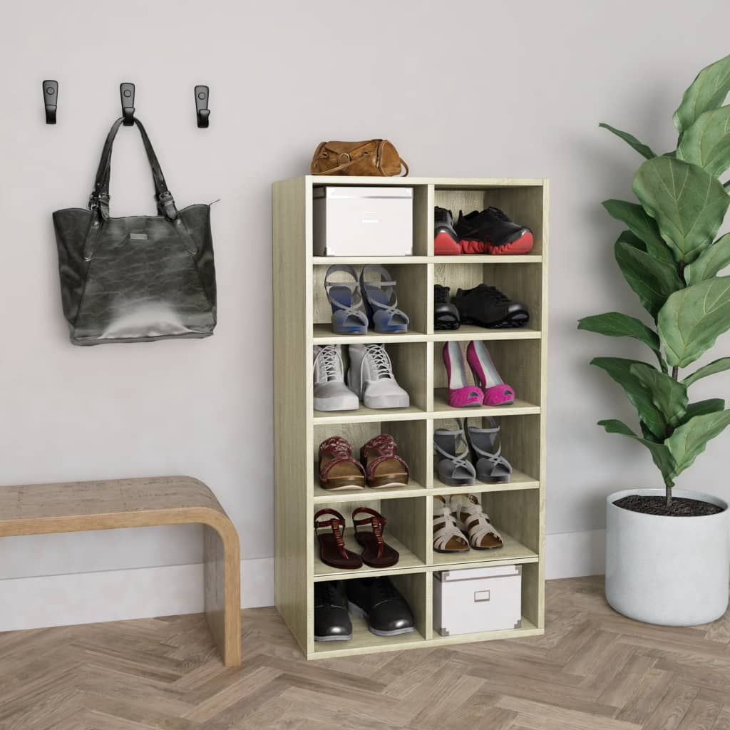 vidaXL Pantofar, stejar Sonoma, 54 x 34 x 100 cm, PAL vidaxl.ro