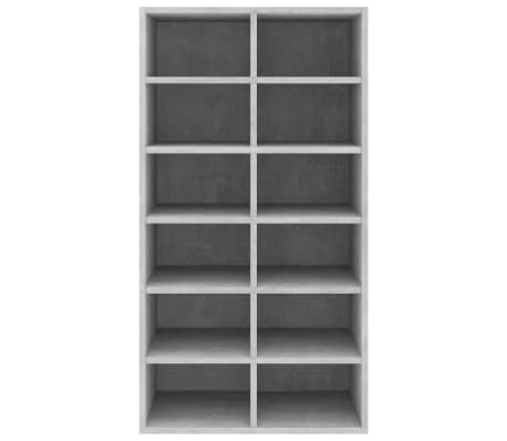 "vidaXL Shoe Rack Concrete Gray 21.5""x13.3""x39.3"" Chipboard[4/6]"