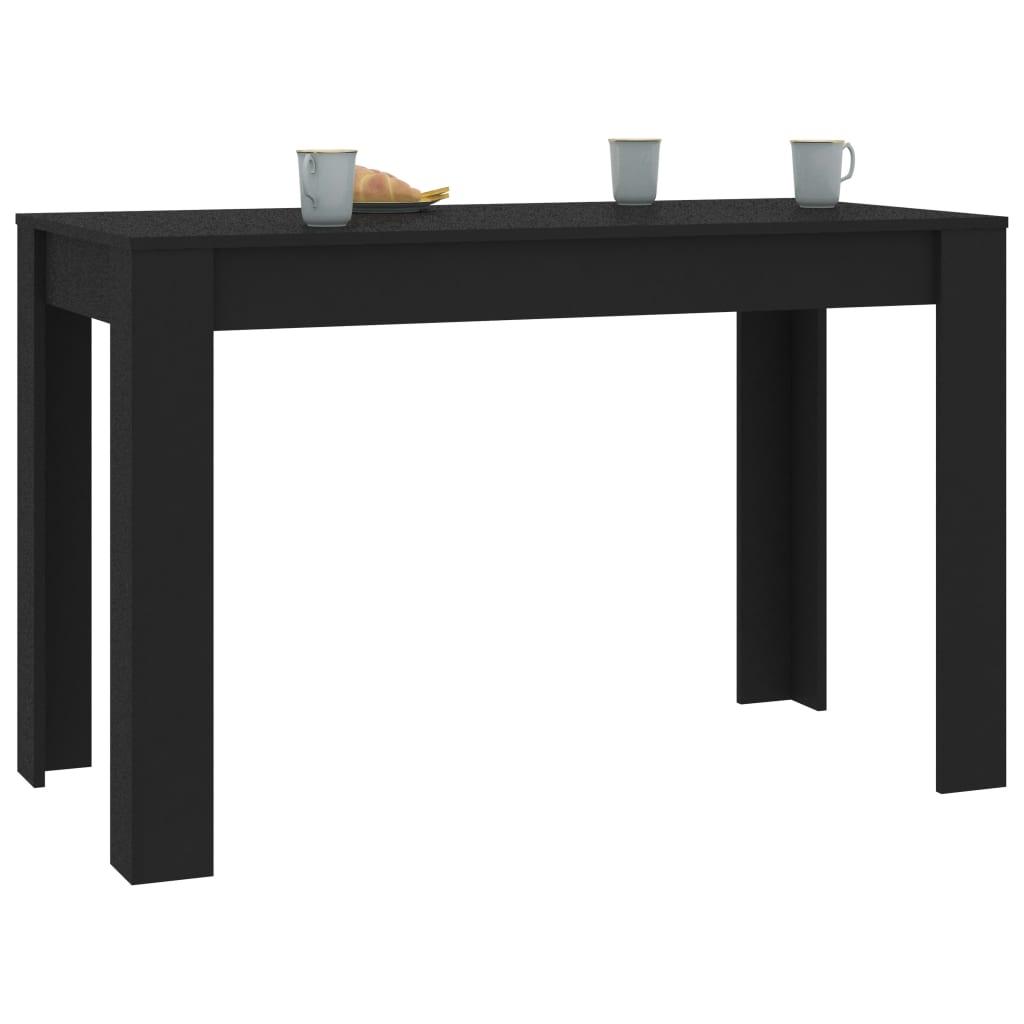 vidaXL Eettafel 120x60x76 cm spaanplaat zwart