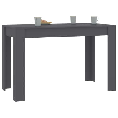 "vidaXL Dining Table Gray 47.2""x23.6""x29.9"" Chipboard[3/6]"