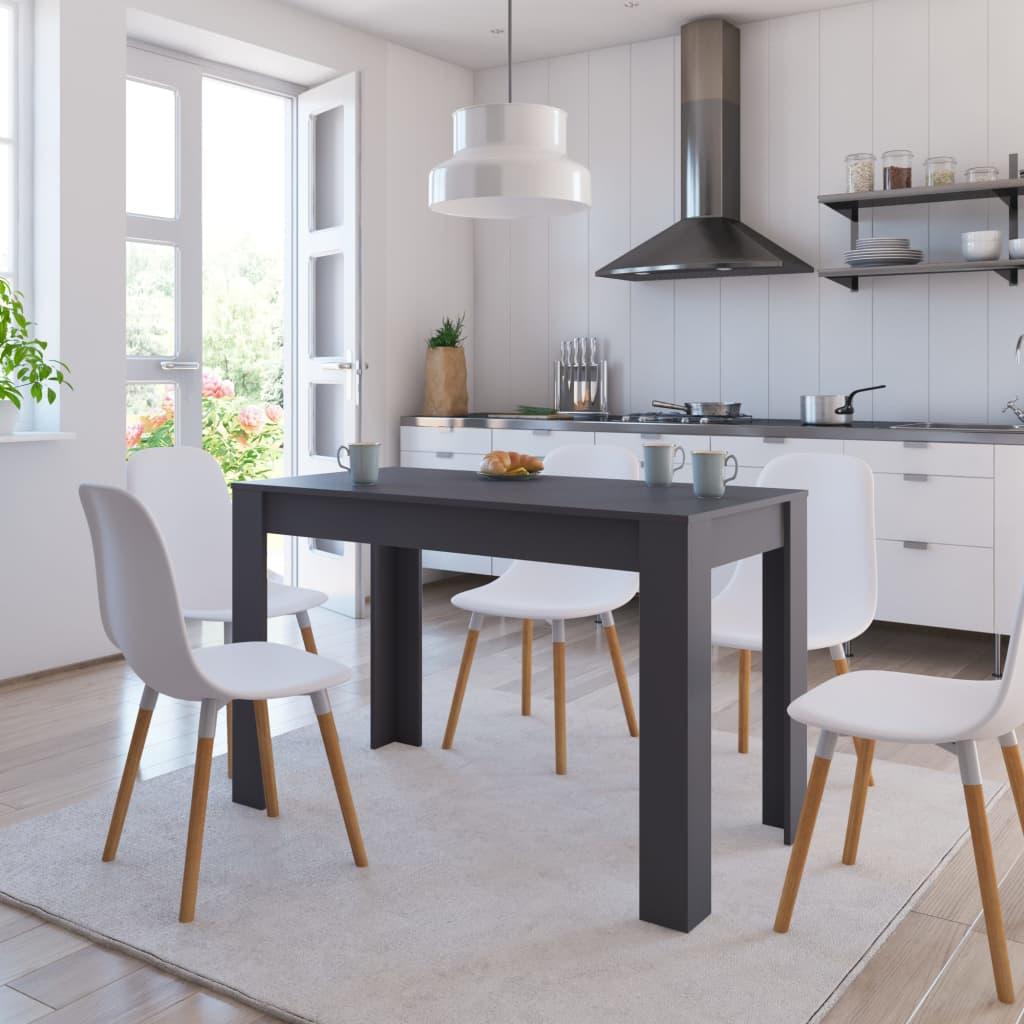 vidaXL Masă de bucătărie, gri, 120 x 60 x 76 cm, PAL imagine vidaxl.ro