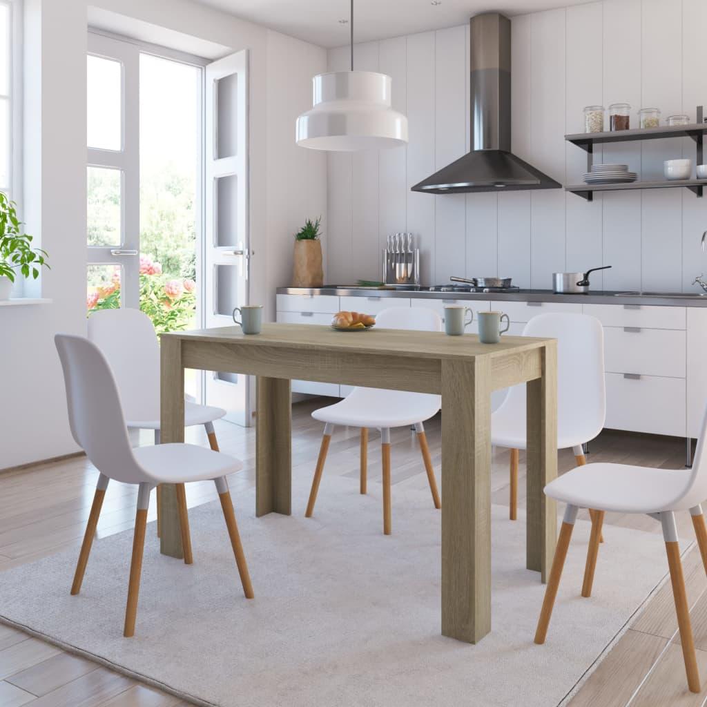 Jídelní stůl dub sonoma 120 x 60 x 76 cm dřevotříska