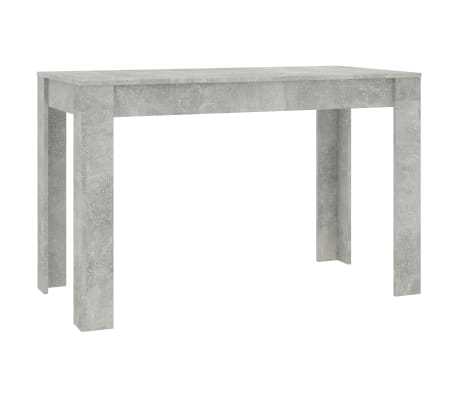 "vidaXL Dining Table Concrete Gray 47.2""x23.6""x29.9"" Chipboard"