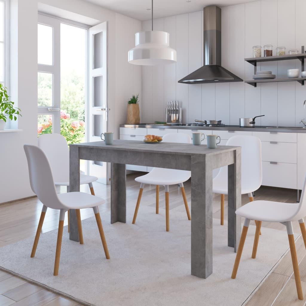 Jídelní stůl betonově šedý 120 x 60 x 76 cm dřevotříska