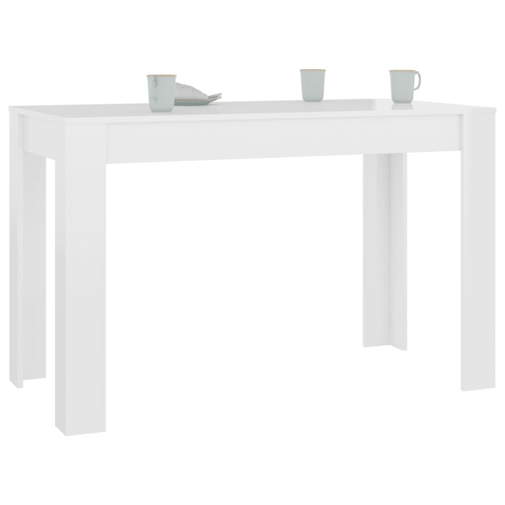 vidaXL Eettafel 120x60x76 cm spaanplaat hoogglans wit