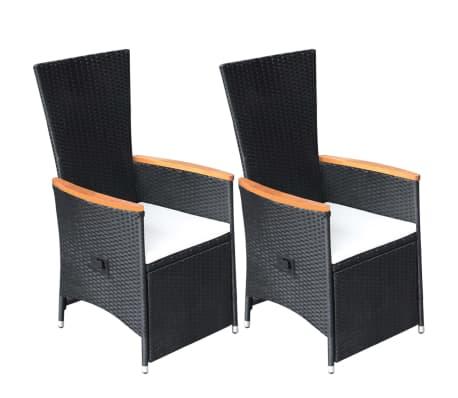 Sedie Reclinabili Da Esterno.Vidaxl 2x Sedie Da Giardino Reclinabili Con Cuscini Polyrattan