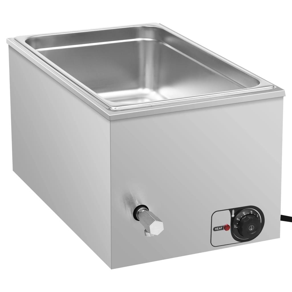 vidaXL Încălzitor alimente tip bain marie 1500W GN 1/1 oțel inoxidabil poza vidaxl.ro