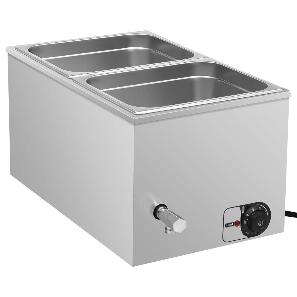 vidaXL Încălzitor alimente tip bain marie 1500W GN 1/2 oțel inoxidabil poza vidaxl.ro