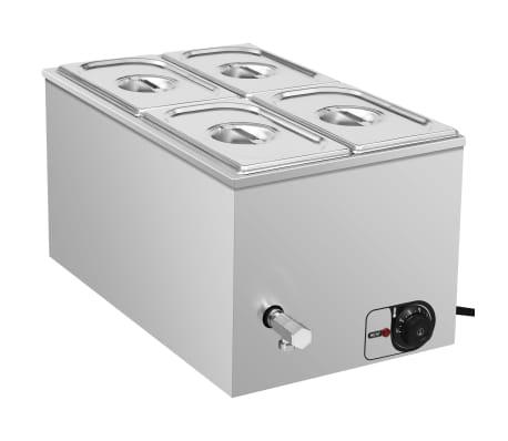 vidaXL rozsdamentes acél ételmelegítő 1500 W GN 1/4