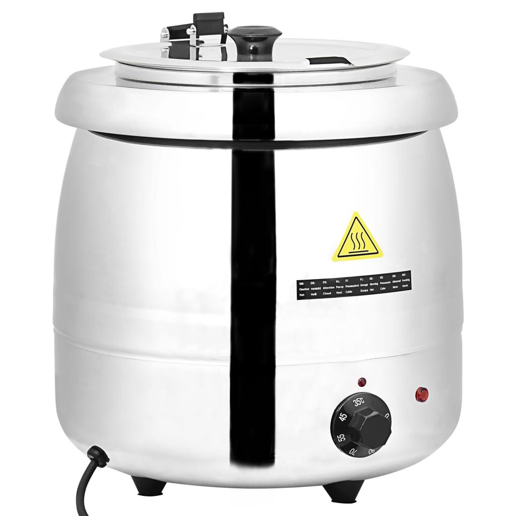 vidaXL Elektrický kotlík na polévku nerezová ocel 10 l
