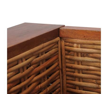 vidaXL Sofos komplektas su pagalvėlėmis, 2d., rudos sp., nat. ratanas[14/18]