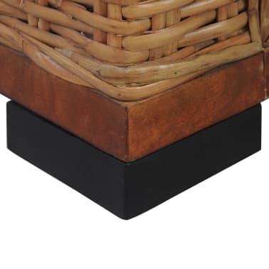 vidaXL Sofos komplektas su pagalvėlėmis, 2d., rudos sp., nat. ratanas[16/18]