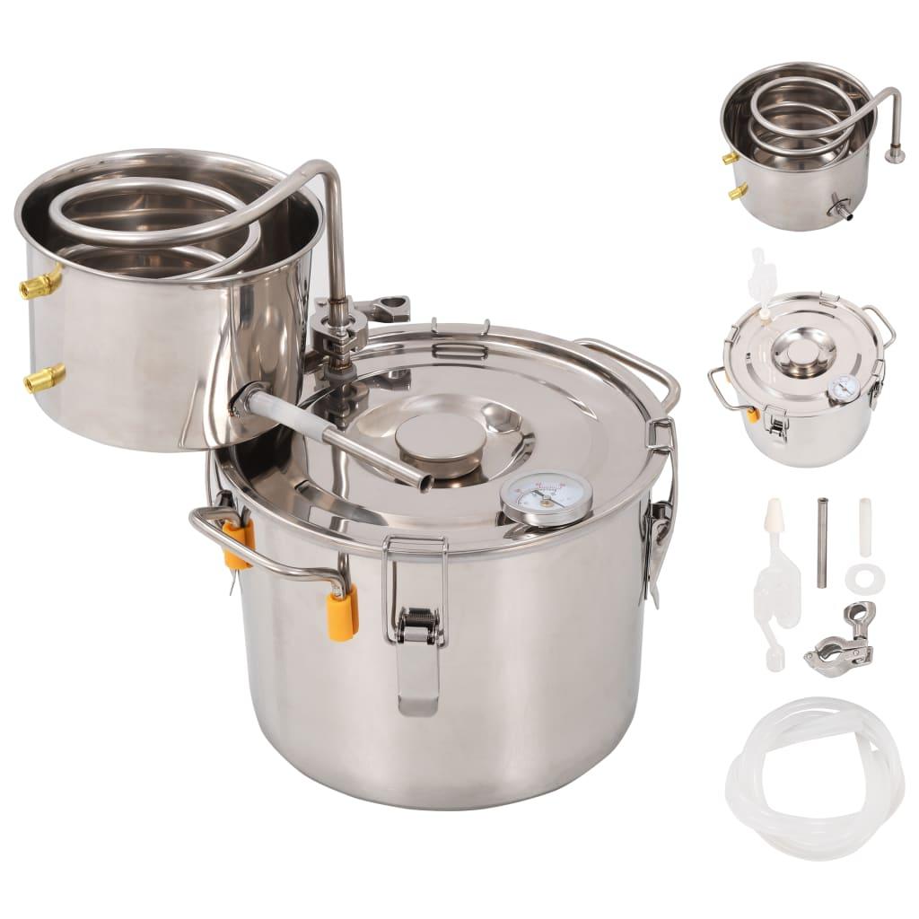 vidaXL Distilator apă, alcool, oțel inoxidabil, 8 L vidaxl.ro