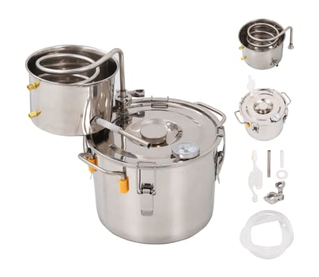 vidaXL Distillateur d'alcool Acier inoxydable 8 L[1/9]
