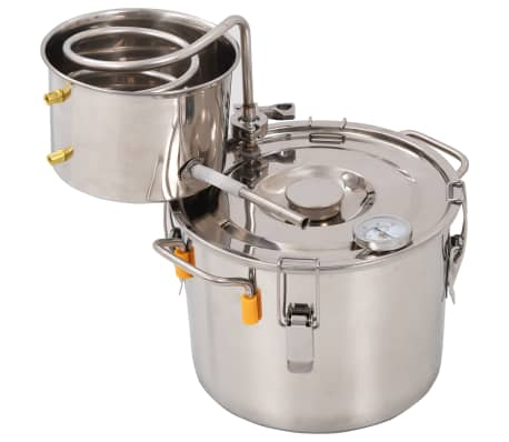 vidaXL Distillateur d'alcool Acier inoxydable 8 L[2/9]