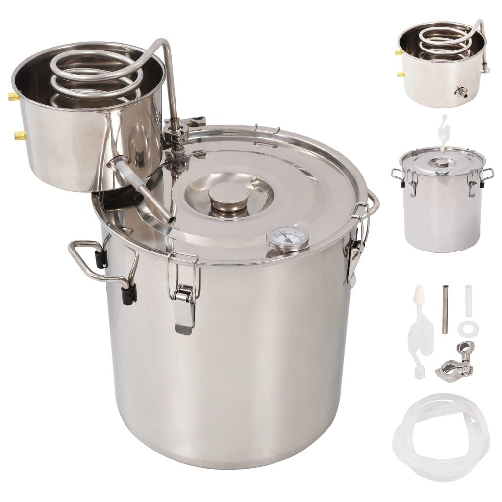 vidaXL Distilator de apă, alcool, oțel inoxidabil, 30 L vidaxl.ro