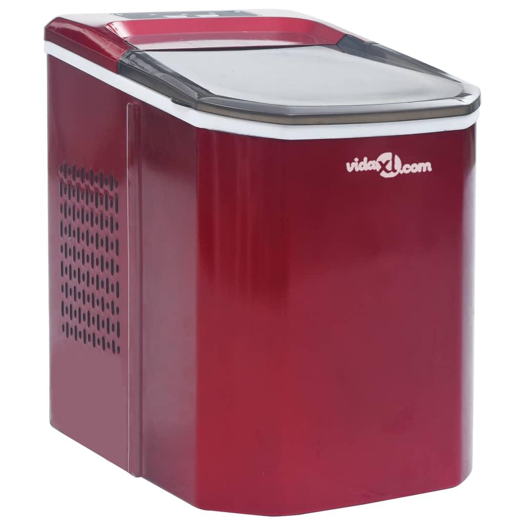 vidaXL Aparat de făcut cuburi de gheață, roșu, 1,4 L, 15 kg / 24 h imagine vidaxl.ro