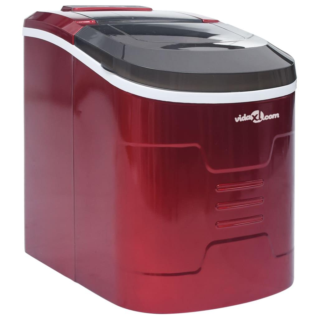 vidaXL Výrobník ledových kostek červený 2,4 l 15 kg/24 h