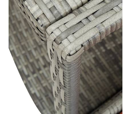 vidaXL Spa Surround Gray Poly Rattan[7/8]