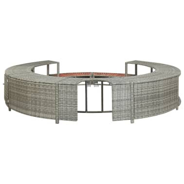 vidaXL Spa Surround Gray Poly Rattan[6/8]