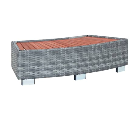 "vidaXL Spa Step Gray Poly Rattan 36.2""x17.7""x9.8""[1/8]"