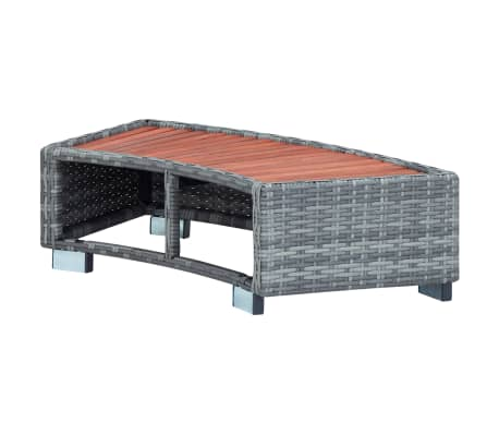 "vidaXL Spa Step Gray Poly Rattan 36.2""x17.7""x9.8""[4/8]"
