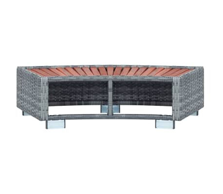 "vidaXL Spa Step Gray Poly Rattan 36.2""x17.7""x9.8""[5/8]"