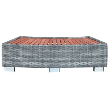 "vidaXL Spa Step Gray Poly Rattan 36.2""x17.7""x9.8""[2/8]"
