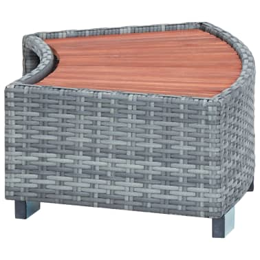 "vidaXL Spa Step Gray Poly Rattan 36.2""x17.7""x9.8""[3/8]"