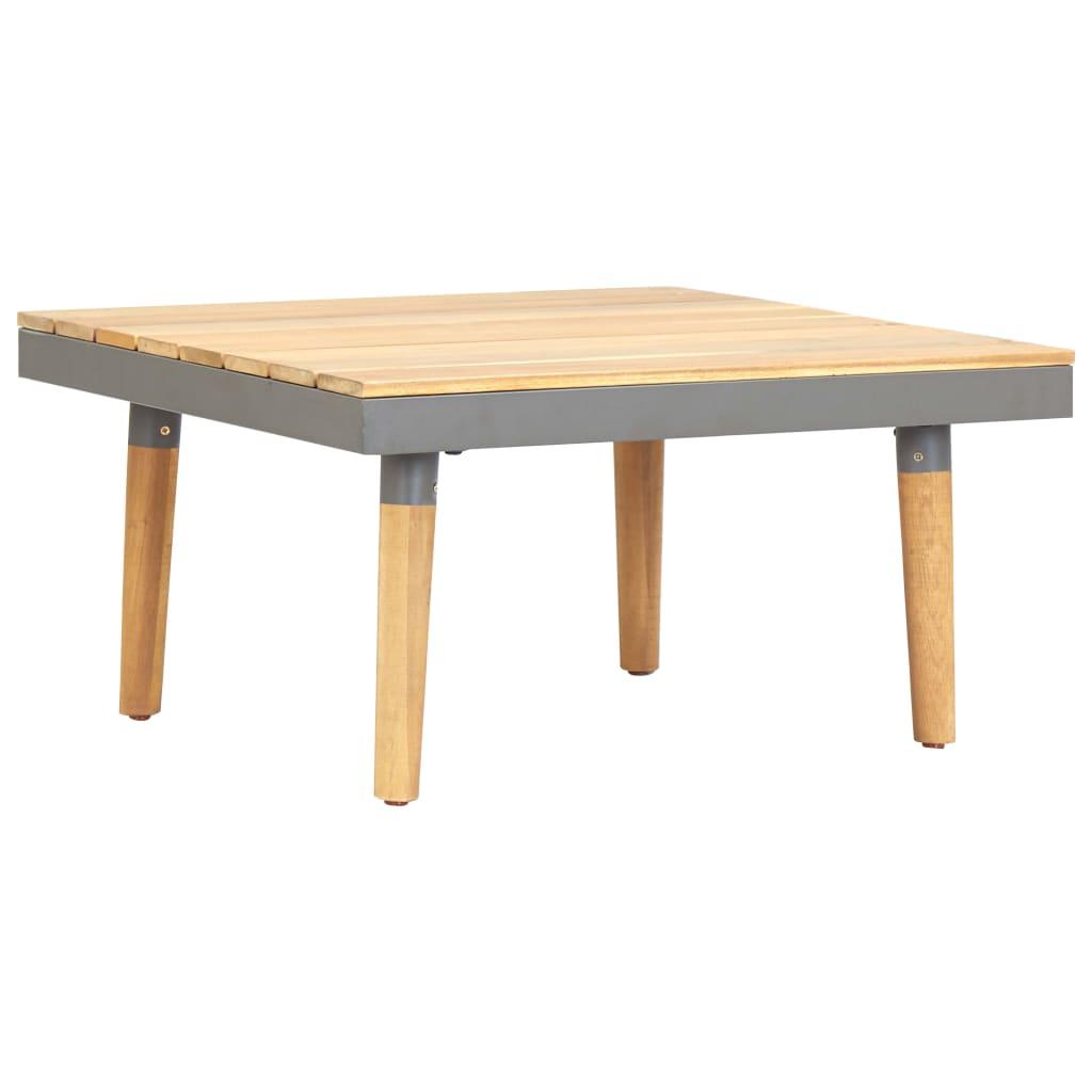 vidaXL Ogrodowy stolik kawowy, 60x60x31,5 cm, lite drewno akacjowe