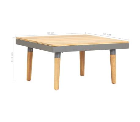 Vidaxl Garden Coffee Table 60x60x315 Cm Solid Acacia Wood