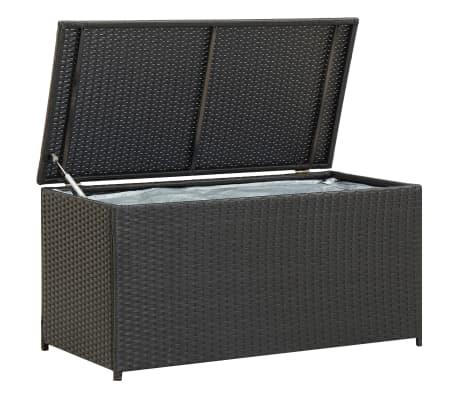"vidaXL Garden Storage Box Poly Rattan 39.3""x19.6""x19.6"" Black"