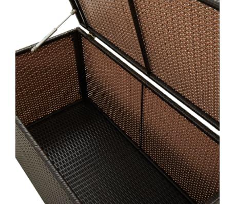 "vidaXL Garden Storage Box Poly Rattan 39.3""x19.6""x19.6"" Brown[4/9]"