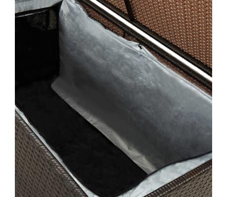 "vidaXL Garden Storage Box Poly Rattan 39.3""x19.6""x19.6"" Brown[6/9]"