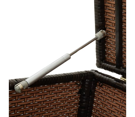 "vidaXL Garden Storage Box Poly Rattan 39.3""x19.6""x19.6"" Brown[8/9]"