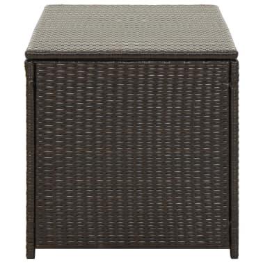"vidaXL Garden Storage Box Poly Rattan 39.3""x19.6""x19.6"" Brown[3/9]"