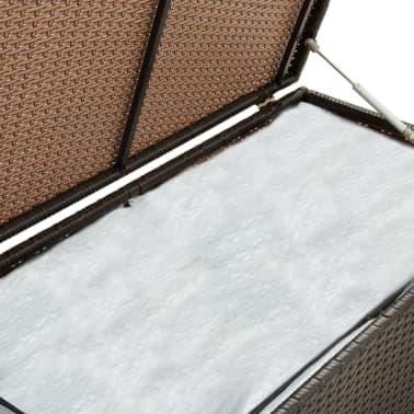 "vidaXL Garden Storage Box Poly Rattan 39.3""x19.6""x19.6"" Brown[5/9]"