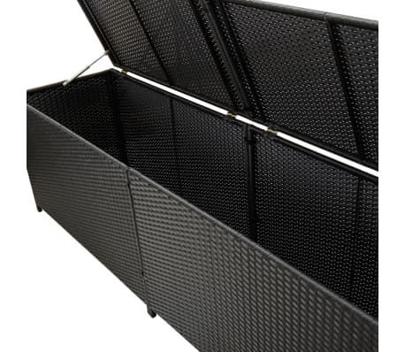 "vidaXL Garden Storage Box Poly Rattan 78.7""x19.6""x23.6"" Black[4/9]"