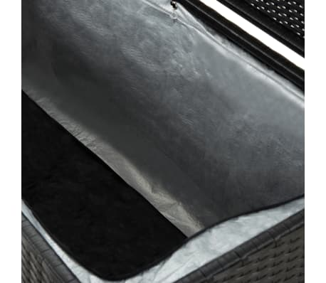 "vidaXL Garden Storage Box Poly Rattan 78.7""x19.6""x23.6"" Black[6/9]"