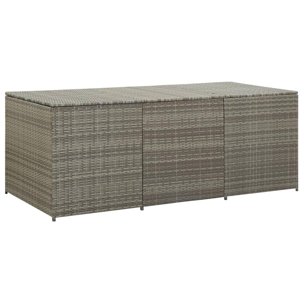 vidaXL Zahradní úložný box polyratan 180 x 90 x 75 cm šedý