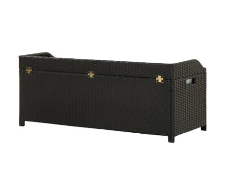 "vidaXL Garden Storage Bench 47.2"" Poly Rattan Black[5/8]"